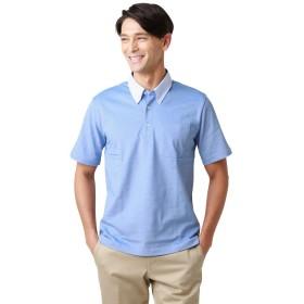 NEWYORKER(ニューヨーカー) ポロシャツ 【 通気性 吸水性 COOL COMFORT 】 布帛 衿 青 LL 116356007004