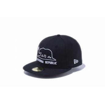 NEW ERA ニューエラ ストア限定 59FIFTY カリフォルニア・リパブリック グリズリー アウトライン ブラック ベースボールキャップ キャップ 帽子 メンズ レディース 7 1/8 (56.8cm) 12286472 NEWERA