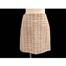 【銀座本店】【中古】CHANEL シャネル P45109 ツイードスカート 36 マルチカラー