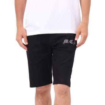 [エムシーディ] MCD パンツ 接触冷感 ストレッチ バック 刺繍 ショーツ 192M1904 ブラック XL