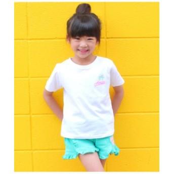 (ANAP KIDS/アナップキッズ)ネオンプリントTシャツ/レディース ホワイト