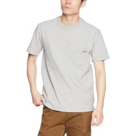 [クリフメイヤー] TOUGH TEE ワンポイント刺繍ポケTEE タフティー 半袖Tシャツ ポケットTシャツ クルーネック ヘビーウェイト 1755102 M グレー