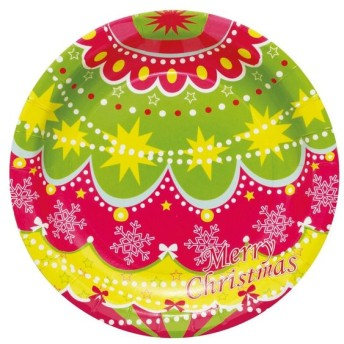クリスマスシリーズ プレート クリスマスオーナメント PT312 8枚×10セット