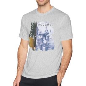 メンズ Tシャツ 半袖 おしゃれ R.E.M. - Document プリント スポーツ着 グレー L