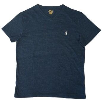 (ポロ ラルフローレン)POLO Ralph Lauren 半袖 Tシャツ ワンポイント メンズ Vネック 霜降りネイビー×オフホワイト XL [並行輸入品]