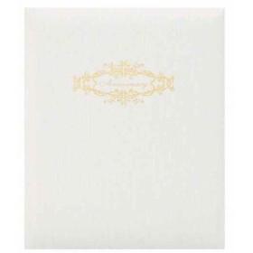 HAKUBA 写真台紙 高級 婚礼用 No88 シャンタン サイズ 2面 タテ×2枚[M88-6STWT-2TT](ホワイト, 6切)