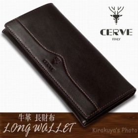【売り切れました】 CERVE(チェルベ) 牛革 メンズ 長財布