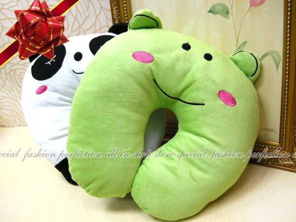 韓版絨毛動物U型護頸午睡枕U型枕『29X30』 動物U型枕 午睡枕 護頸枕【GE170】◎123便利屋◎