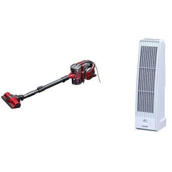 【セット販売】アイリスオーヤマ サイクロン 掃除機 3WAY レッド IC-S55KF-R & アイリスオーヤマ 空気清浄機 花粉 PM2.5 除去
