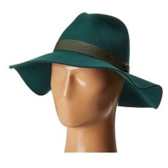 サンディエゴハット レディース 帽子 アクセサリー WFH8049 Wide Flat Brim Fedora Emerald