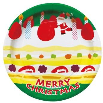クリスマスシリーズ プレート クリスマスケーキ PT315 8枚×10セット