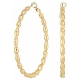 スティーブ マデン Steve Madden レディース イヤリング・ピアス ジュエリー・アクセサリー Patterned Hoop In & Out Earrings Gold