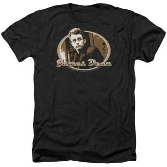 Trevco メンズ ジェームス・ディーン半袖Tシャツいたずら XLサイズ 探しヘザーブラック