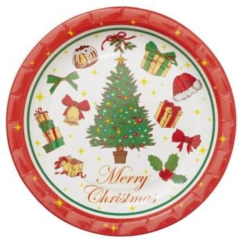 クリスマスシリーズ プレート メリークリスマス PT364 8枚×10セット