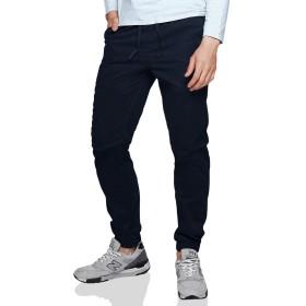 Matchstick(マッチスティック)ジョガーパンツ メンズ 大きいサイズ 迷彩 ツイル スウェットパンツ テーパード ズボン メンズ #6535 (ブルー, XL/34)