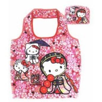 【ハローキティ】プレミアムエコバッグ【CherryBlossom】【和柄】【和風】【Kitty】【キティ】【キティちゃん】【サンリオ】【バッグ】【