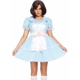 コスプレ ハロウィン 水色の水玉ドレス 2点セット ワンピース 86866 衣装 仮装 leg avenue コスチューム レッグアベニュー