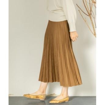 SENSE OF PLACE(センスオブプレイス) スカート スカート エコスエードプリーツフレアスカート【送料無料】