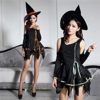 ハロウィン ワンピース コスプレ 魔女 コスチューム 巫女 クリスマス レディース 魔法 パーティー ステージ仮装