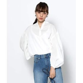 [センスオブプレイス] シャツ ブラウス ギャザースリーブボリュームシャツ レディース OFF WHITE FREE