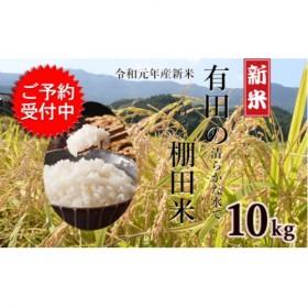 K14-1 令和元年産 有田の清らかな水で育った棚田米【白米10kg】