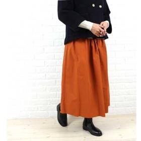 Dee Flavor(ディーフレイバー)ポリエステル ギャザー ロングスカート・455031-0501502・レディース