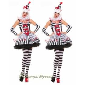 ハロウィン仮装  Halloween 大人用 悪魔 怖い ピエロコスチューム セットアップ レディース 舞台衣装 吸血鬼 コスプレグッズ 万聖節 余興