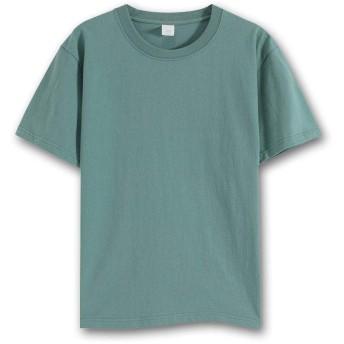 MASUMI メンズ Tシャツ 8.1オンス 半袖 クルーネック 綿100% 透けない 柔らかい 年中着回せる (M, あおい)