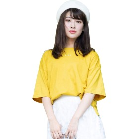 (アンドジェイ) ANDJ 三ツ星刺繍ゆるTシャツ(3991) M イェロー