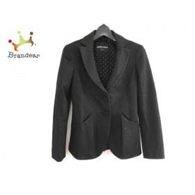 エンポリオアルマーニ ジャケット サイズ36 S レディース 美品 黒×白 ドット柄/肩パッド 新着 20190803
