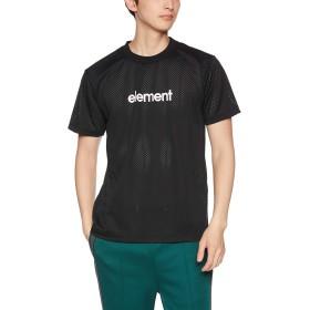 [エレメント] [メンズ] 半袖 プリント Tシャツ (吸汗速乾素材)[ AJ021-307 / ELEMENTAL FOUNDATION SS TEE ] おしゃれ BLK_ブラック US XL (日本サイズXL相当)