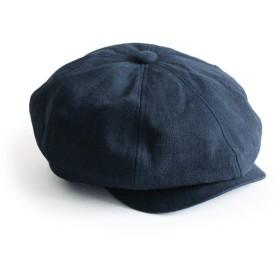 (XL[60cm~62cm] Navy) [アナグラム] ANAGRAM 2way ダックキャスケット ハンチング ニュースキャップ 大きいサイズ 帽子 XLサイズあり