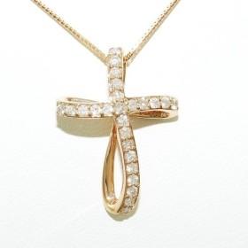 ネックレス K18 18金 PG ピンクゴールド ダイヤ 0.52