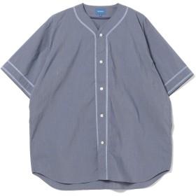(ビームス)BEAMS/半袖 シャツ/ベースボール シャツ メンズ ネイビー M