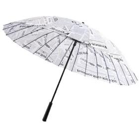 [ジンニュウ] 雨傘 梅雨対策 大きいサイズ アウトドア用 男女兼用 27本骨 ジャンプ傘 D