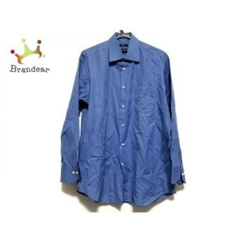 ヒューゴボス HUGOBOSS 長袖シャツ サイズ16 メンズ 美品 ブルー 新着 20190803