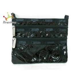 レスポートサック LESPORTSAC ポーチ 美品 黒 ラメ 化学繊維   スペシャル特価 20191106