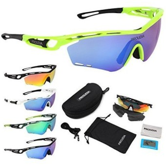 【PROUDIA】 スポーツサングラス 偏光レンズ 軽量 /自転車/ゴルフ/野球/テニス/ランニング/運転/マリンスポーツ/釣り/スキー/スノボ/