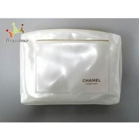 シャネルパフューム CHANEL PARFUMS ポーチ 美品 白×ゴールド PVC(塩化ビニール)  値下げ 20191004