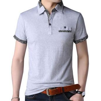 Heaven Days(ヘブンデイズ) ポロシャツ 半袖 ゴルフシャツ poloシャツ ポイント花柄 メンズ 1906N0062