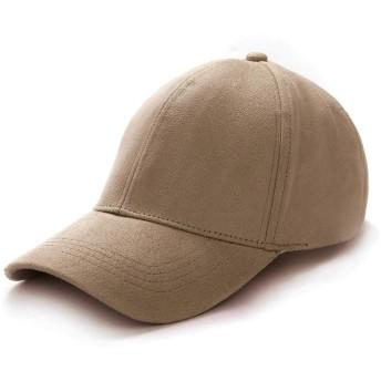 キャップ メンズ 帽子 スエード生地 野球帽 キャップ レディーズ 野球用 ゴルフ用 男女兼用 日除け UVカット 紫外線対策 (ライトコーヒー)