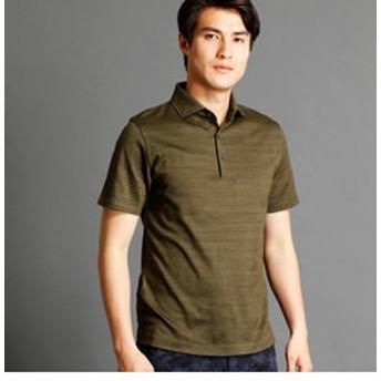 【NICOLE:トップス】インディゴ風ポロシャツ