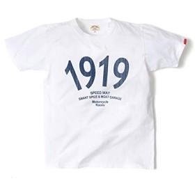 [スマートスパイス] Tシャツ メンズ 半袖 (フロントプリント・日本製・アメカジ)( Sサイズ白 ホワイト )