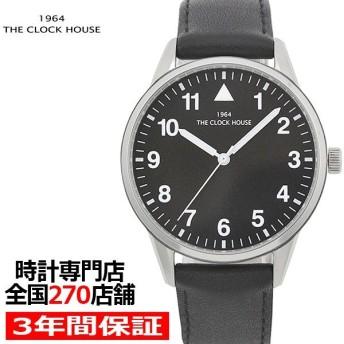 ザ・クロックハウス MBC5004-BK1B ビジネスカジュアル メンズ 腕時計 クオーツ 黒レザー ブラック リーズナブル THE CLOCK HOUSE