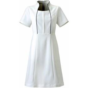 女性を輝かせる 歯科・エステ・美容制服【Calalaワンピース】《031-CL-0181》 (11号, C-1 ホワイト)