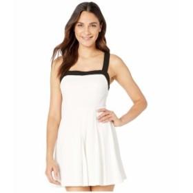 BCBジェネレーション レディース ワンピース トップス Cocktail Pleated Knit Dress Optic White