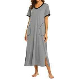 レディース ドレス ワンピース チュニック セクシー 女性 寝着 短い 袖 Night長着 家庭着 バスローブ パジャマ 室内着 ガウン ナイトウエア 普段着 カジュアル ドレス