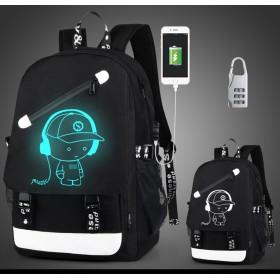 発光 オックスフォード ファッション USB充電ポート バックパック ユニセックス 大容量 光る リュックサック バックパック デイバッグ 中学生 高校生 部活 通学 旅行 かばん