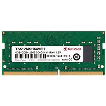 Transcend ノートPC用増設メモリ 4GB DDR4-2666 PC4-21300 SO-DIMM TS512MSH64V6H