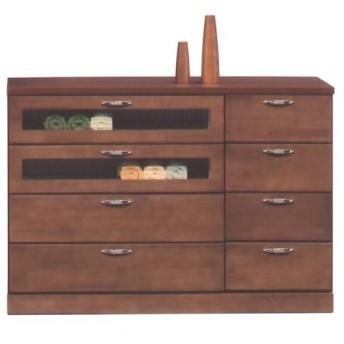 木製チェスト 完成品 引き出し Vanilla 幅120cm高さ85cm ブラウン チェスト 収納家具 衣類収納 おしゃれ 引出し 木製 タンス 箪笥 たんす かわいい